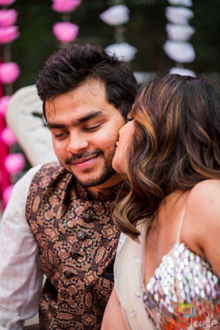 cute indian couple |Bridal Lehenga Designed by the Bride