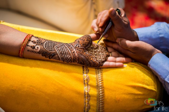 its all about henna color | Bridal Lehenga Designed by the Bride