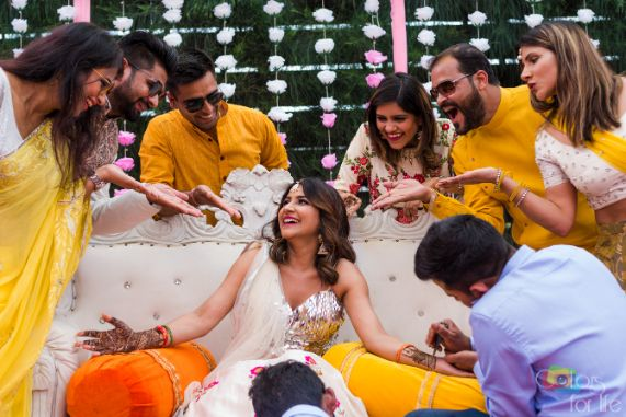 you are my people  | how to pose with your gang | Bridal Lehenga Designed by the Bride