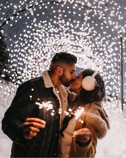 under the fairy light shoot | Best Spotted Pre-Wedding Shoot Trends