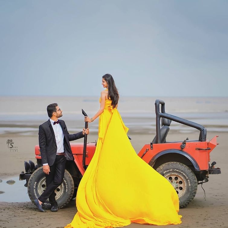 Best Spotted Pre-Wedding Shoot Trends | slay in yellow gown