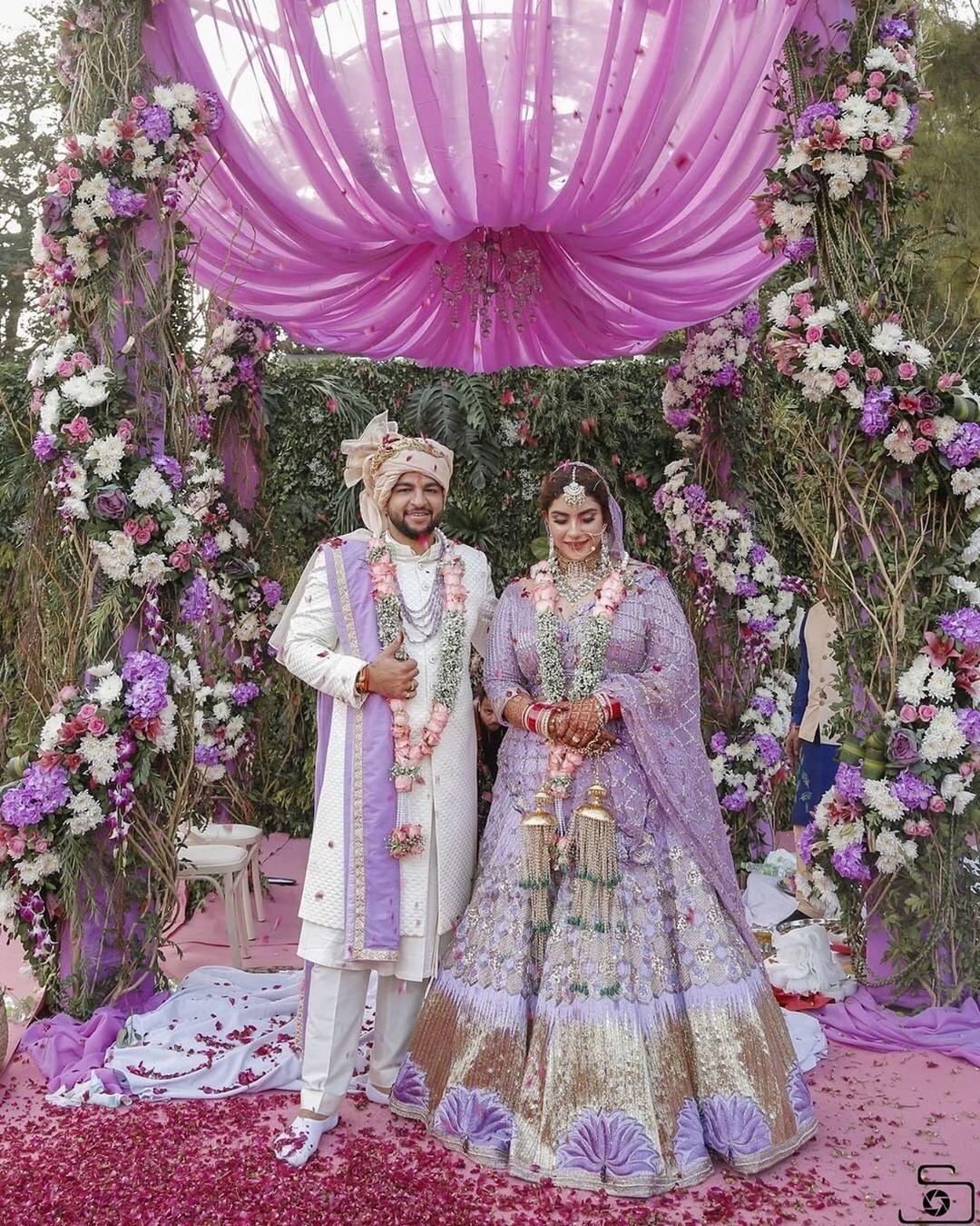Lilac bridal lehenga | Lehenga Colour trends