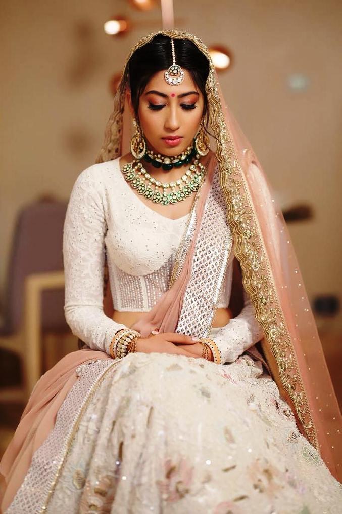 white bridal lehenga | white inidian lehenga | unsual lehenga