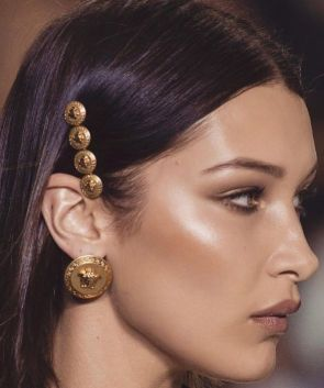 Simple gold Versace Pins | Hair Style Accessories