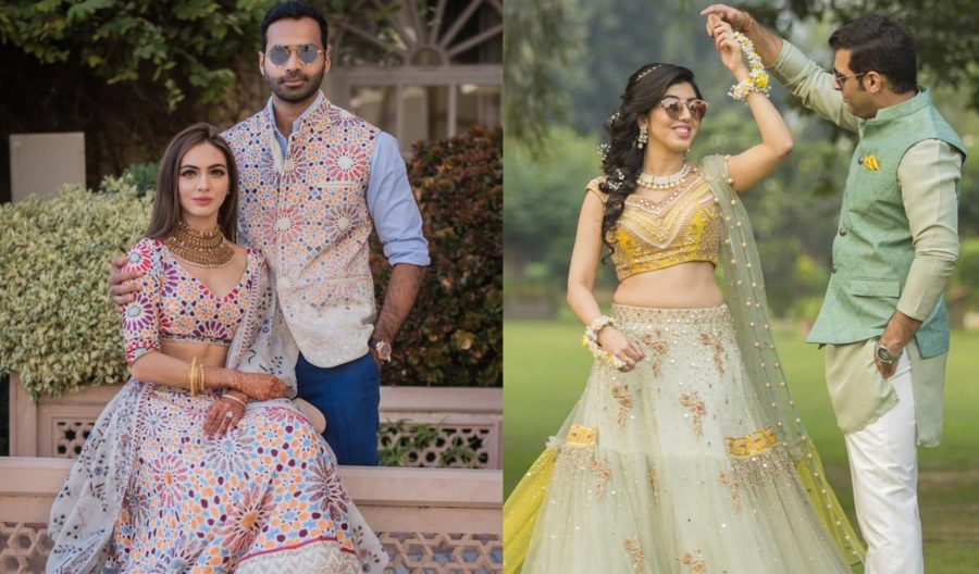 matching couple colour outfits | indian wedding outfits | twining with your husband