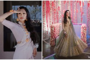roka outfits for indian brides