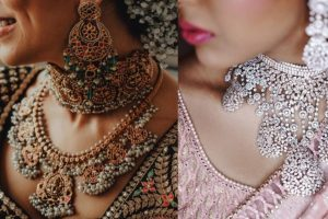 diamond necklace and Kundan bridal necklace | necklace trends for weddings