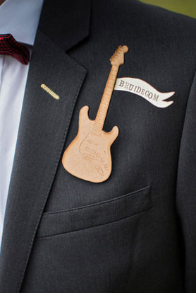 label pins for groomsmen at Indian Weddings