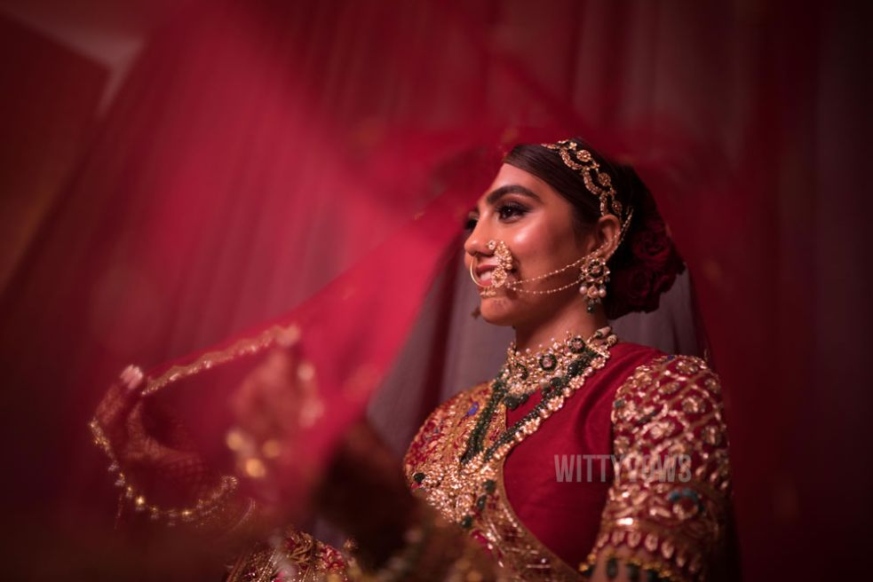 indian bride getting ready photos