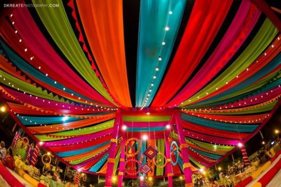 Indian Wedding Decoration Ideas | colorful dapes for indian weddings