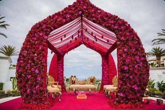 Indian Wedding Decor | Indian Wedding Decoration Ideas | stunning mandap decoration