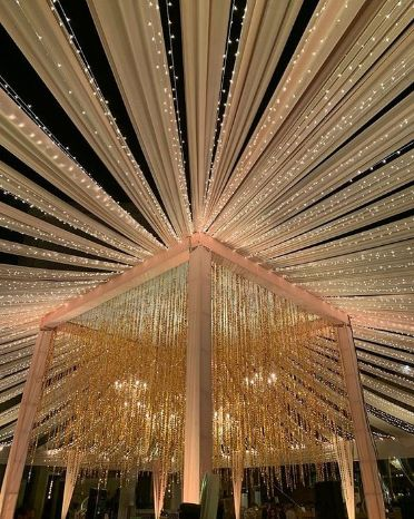 Indian Wedding Decoration Ideas | stunning fairy lights and tent decor ideas