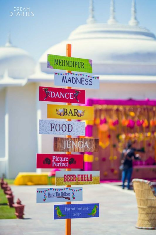 signboards at Indian Wedding  | sign boards to guide the guests at your functions