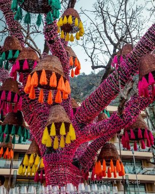 Indian Wedding Decoration Ideas | colorful tassels decoration ideas
