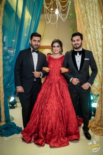 red cocktails gown for the bride | Bridal Lehenga Design