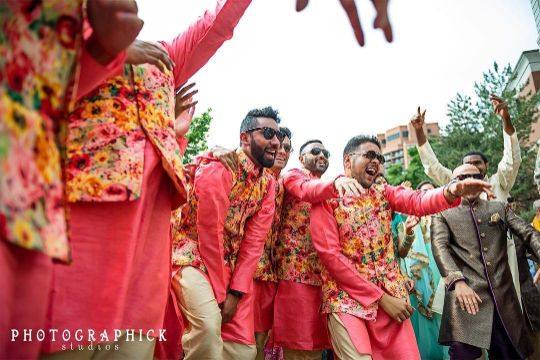 grooms men in matching outfits | Indian wedding diaries