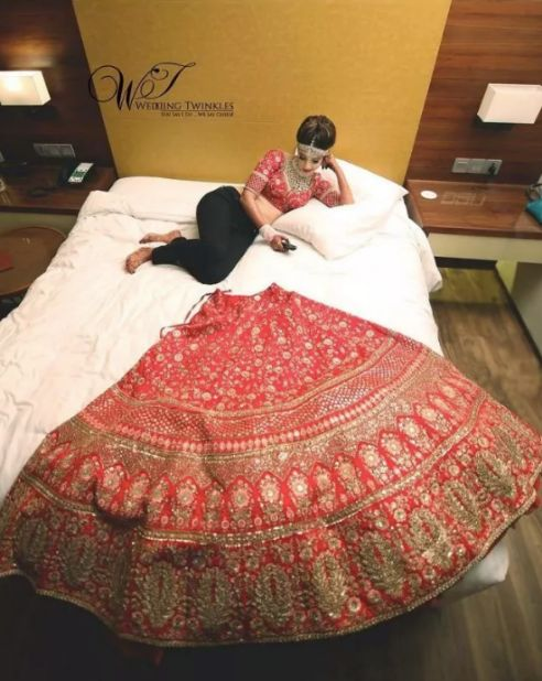indian bridal swag getting ready poses for 2020 indian brides , red lehenga