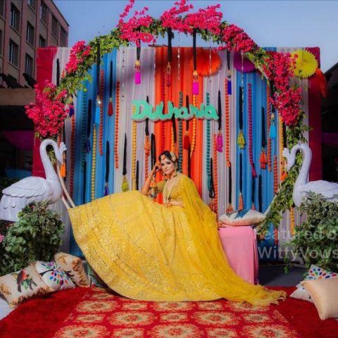 bridal haldi seat