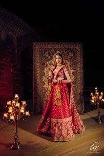 red lehenga   sabyasachi bride