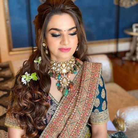 pruple lehenga for indian brides