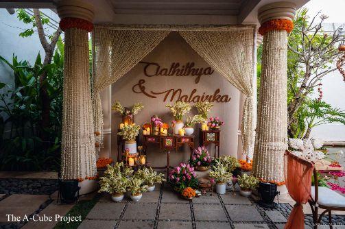 wedding stage setting | wedding in Kerala