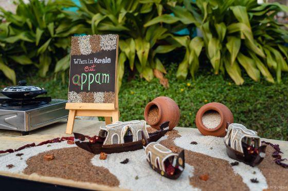 matki and food decor | wedding in Kerala