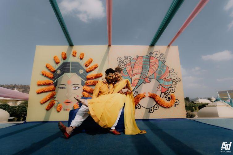haldi ceremony | haldi decor ideas | Fab Matching Outfit Ideas