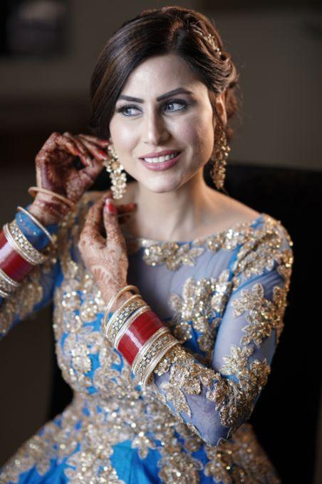indian bridal reception look