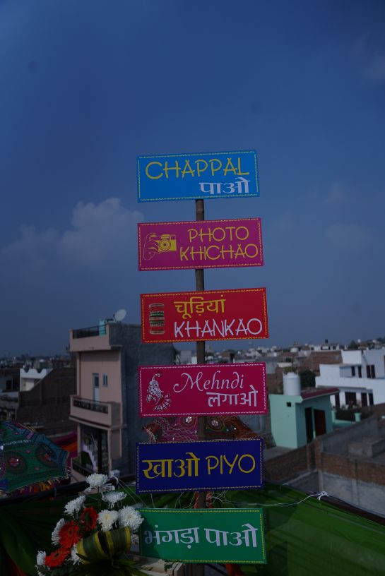 indian wedding sign boards