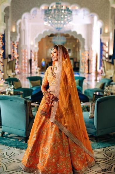 Slaying in perfect shade of orange | Trending lehengas this wedding season | Super Unique Sabyasachi Lehengas