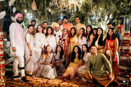 family photo at Indian Wedding   eco friendly wedding