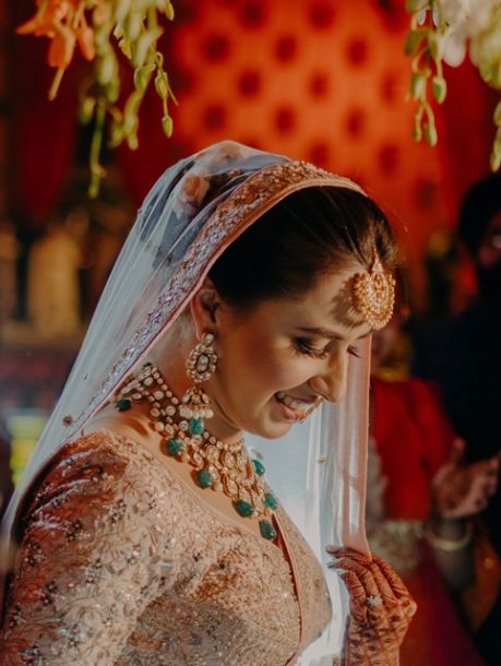 candid bridal shots | Rimple & Harpreet Wedding Lehenga