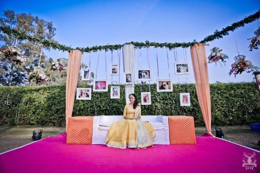 Photo hanging ideas at Indian Weddings