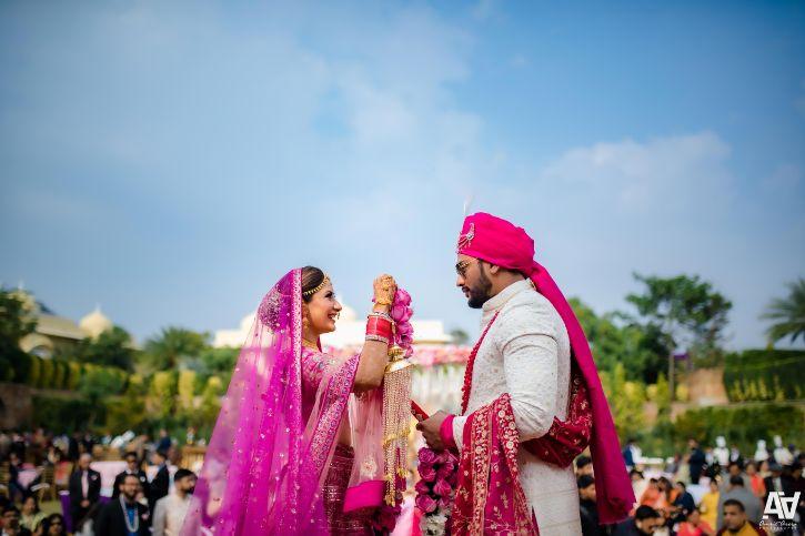 jaimala ceremony | idnian weddings | Fab Matching Outfit Ideas