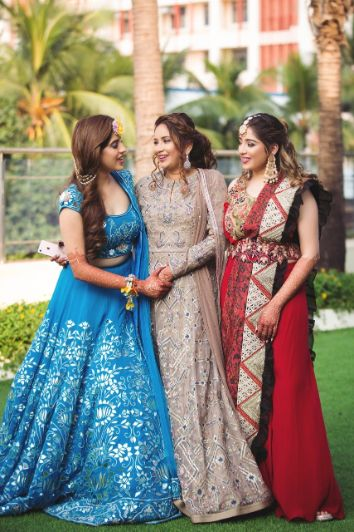 indian bride with her mother | mother daughter love