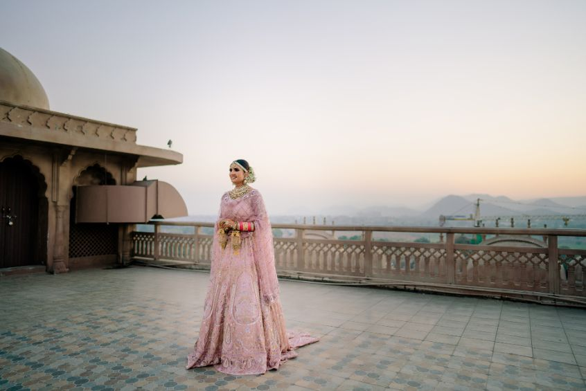 bridal photo poses | Fun Jaipur Wedding