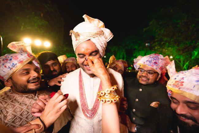indian wedding rituals | groom welcome | Fun Jaipur Wedding