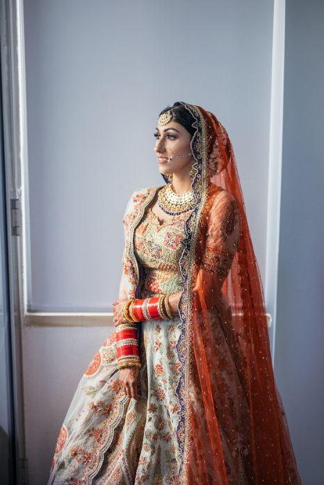 bridal lehenag | stunning ivory lehenag for the bride | Cutest Surprise Proposal Ideas