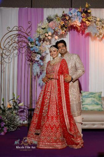indian couple wedding photography  Bride in Anita Dongre Lehenga