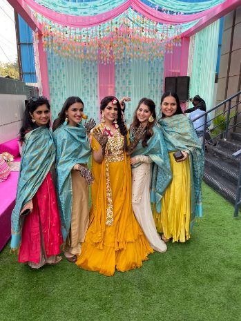mehendi ceremony | bridesmaids outfit