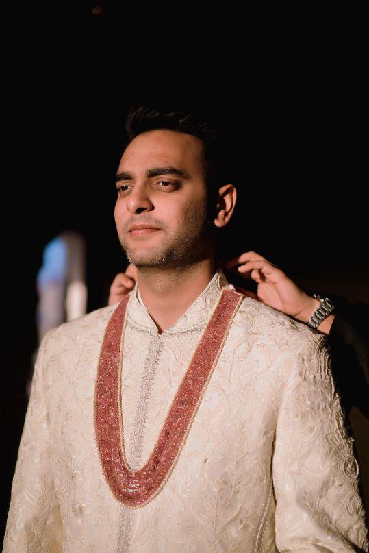 groom getting reday photos | Fun Jaipur Wedding