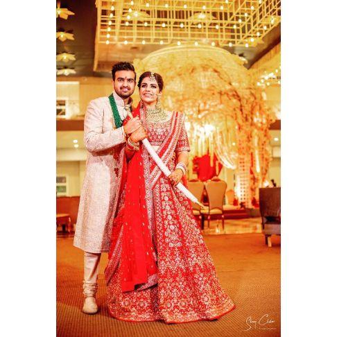 indian wedding couple photography | Anita Dongre Wedding Lehenga