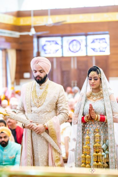 anand karaj ceremony | Pastel Wedding with a Stunning Reception Look