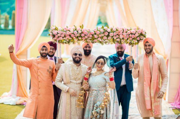 bridal entry | phoolon ki chhadar | Pastel Wedding with a Stunning Reception Look