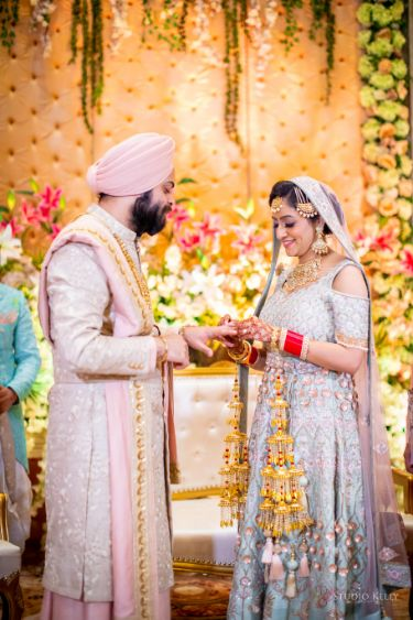 indian bridal details | kaleere | Pastel Wedding with a Stunning Reception Look