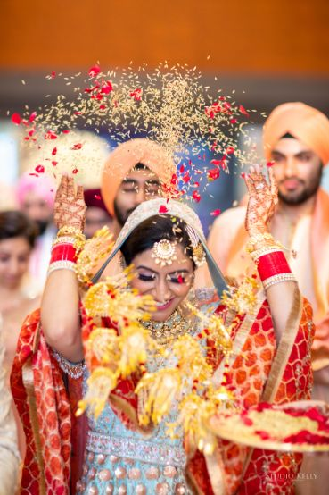 vidai ceremony | sikh wedding | Pastel Wedding with a Stunning Reception Look