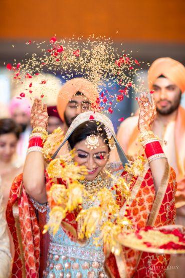 vidai ceremony | sikh wedding | Pastel Wedding with a Stunning Reception Look