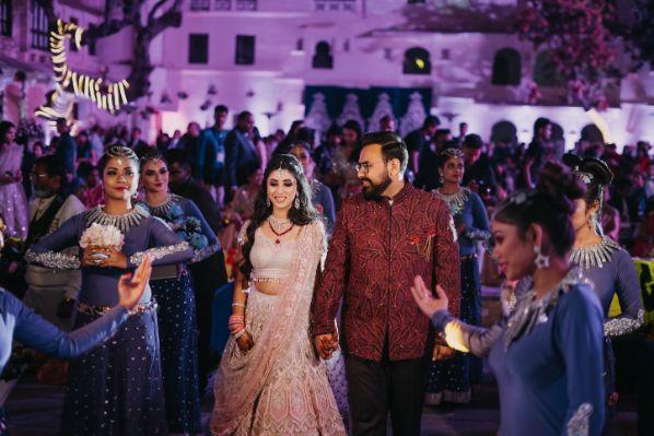 couple entry | indian weddings | Destination Wedding in Udaipur