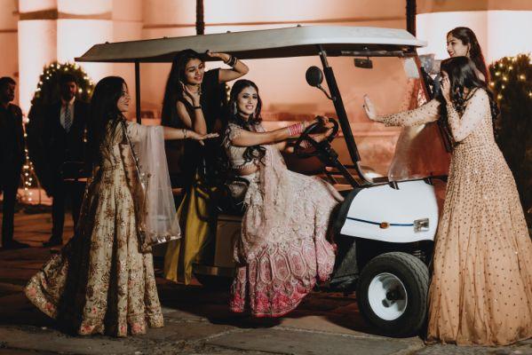 bridesmaids photoshoot idaes |Destination Wedding in Udaipur