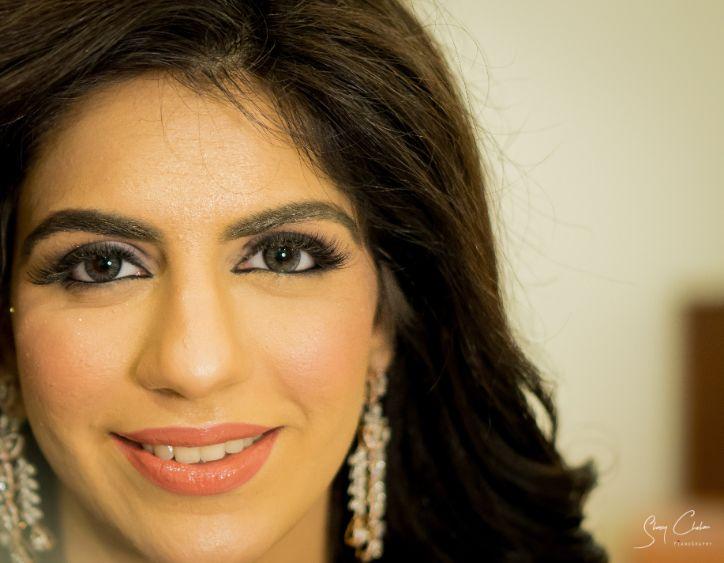 indian bridal makeup ideas | cocktails ceremony